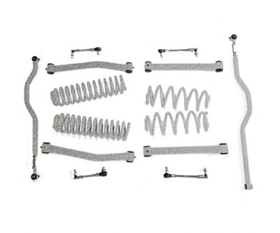 Steinjager 2.5 in. Expanded Lift Kit - Gray Hammertone (07-18 Jeep Wrangler JK)