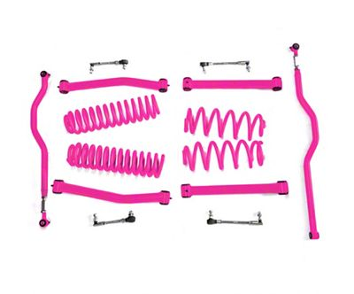 Steinjager 2.5 in. Expanded Lift Kit - Hot Pink (07-18 Jeep Wrangler JK)