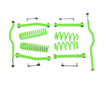 Steinjager 2.5 in. Expanded Lift Kit - Neon Green (07-18 Jeep Wrangler JK)