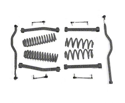 Steinjager 2.5 in. Expanded Lift Kit - Textured Black (07-18 Jeep Wrangler JK)