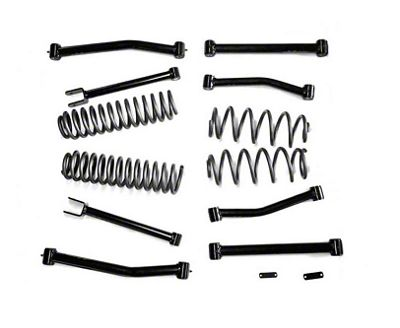 Steinjager 4 in. Lift Kit w/ 8 Control Arms (07-18 Jeep Wrangler JK)