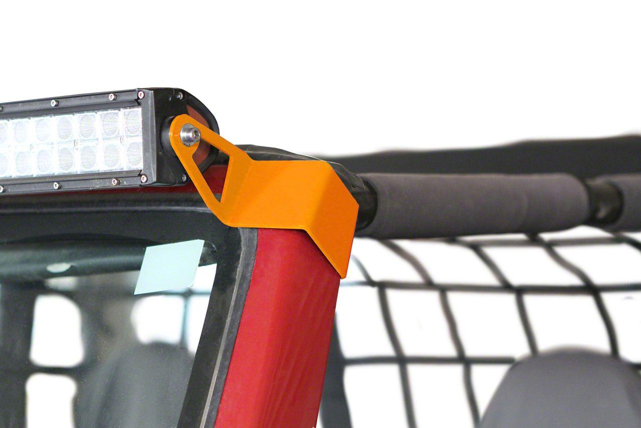 Steinjager 50 in. LED Light Bar w/ Windshield Frame Mounting Brackets - Fluorescent Orange (97-06 Jeep Wrangler TJ)