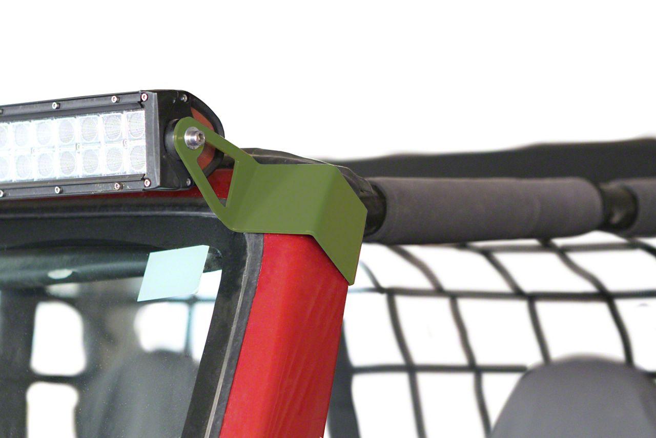 Steinjager 50 in. LED Light Bar w/ Windshield Frame Mounting Brackets - Locas Green (97-06 Jeep Wrangler TJ)