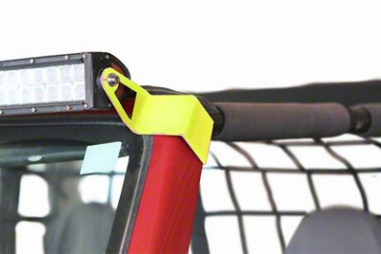 Steinjager 50 in. LED Light Bar w/ Windshield Frame Mounting Brackets - Neon Yellow (97-06 Jeep Wrangler TJ)
