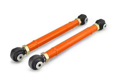 Steinjager Adjustable Rear Lower Control Arms for 0-6 in. Lift - Fluorescent Orange (97-06 Jeep Wrangler TJ)