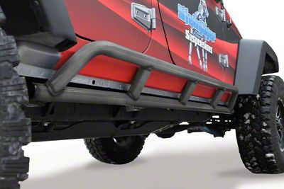 Steinjager Bare Metal Knuckles Rock Sliders - Bare Metal (07-18 Jeep Wrangler JK 4 Door)