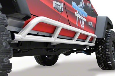 Steinjager Bare Metal Knuckles Rock Sliders - Cloud White (07-18 Jeep Wrangler JK 4 Door)