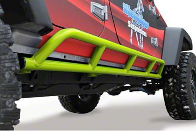 Steinjager Bare Metal Knuckles Rock Sliders - Gecko Green (07-18 Jeep Wrangler JK 4 Door)