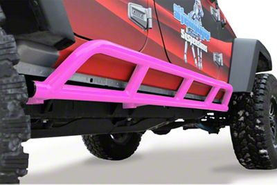 Steinjager Bare Metal Knuckles Rock Sliders - Hot Pink (07-18 Jeep Wrangler JK 4 Door)