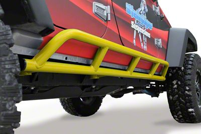 Steinjager Bare Metal Knuckles Rock Sliders - Lemon Peel (07-18 Jeep Wrangler JK 4 Door)