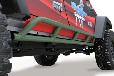 Steinjager Bare Metal Knuckles Rock Sliders - Locas Green (07-18 Jeep Wrangler JK 4 Door)