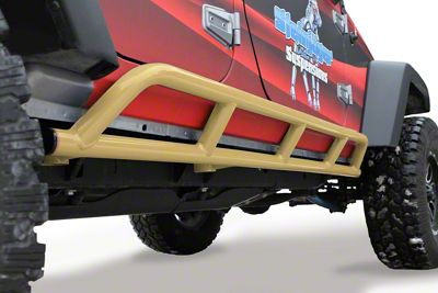 Steinjager Bare Metal Knuckles Rock Sliders - Military Beige (07-18 Jeep Wrangler JK 4 Door)