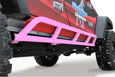 Steinjager Bare Metal Knuckles Rock Sliders - Pinky (07-18 Jeep Wrangler JK 4 Door)