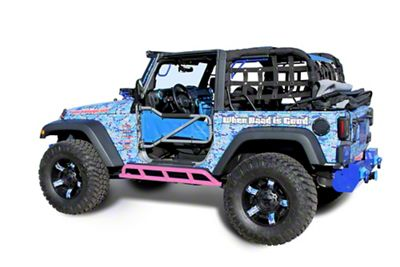 Steinjager Bare Metal Knuckles Rock Sliders - Pinky (07-18 Jeep Wrangler JK 2 Door)