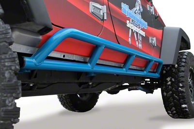 Steinjager Bare Metal Knuckles Rock Sliders - Playboy Blue (07-18 Jeep Wrangler JK 4 Door)