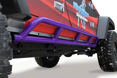 Steinjager Bare Metal Knuckles Rock Sliders - Sinbad Purple (07-18 Jeep Wrangler JK 4 Door)