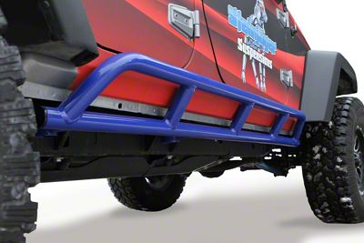 Steinjager Bare Metal Knuckles Rock Sliders - Southwest Blue (07-18 Jeep Wrangler JK 4 Door)