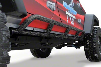 Steinjager Bare Metal Knuckles Rock Sliders - Textured Black (07-18 Jeep Wrangler JK 4 Door)