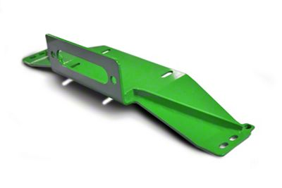 Steinjager Bolt-On Winch Plate - Neon Green (97-06 Jeep Wrangler TJ)