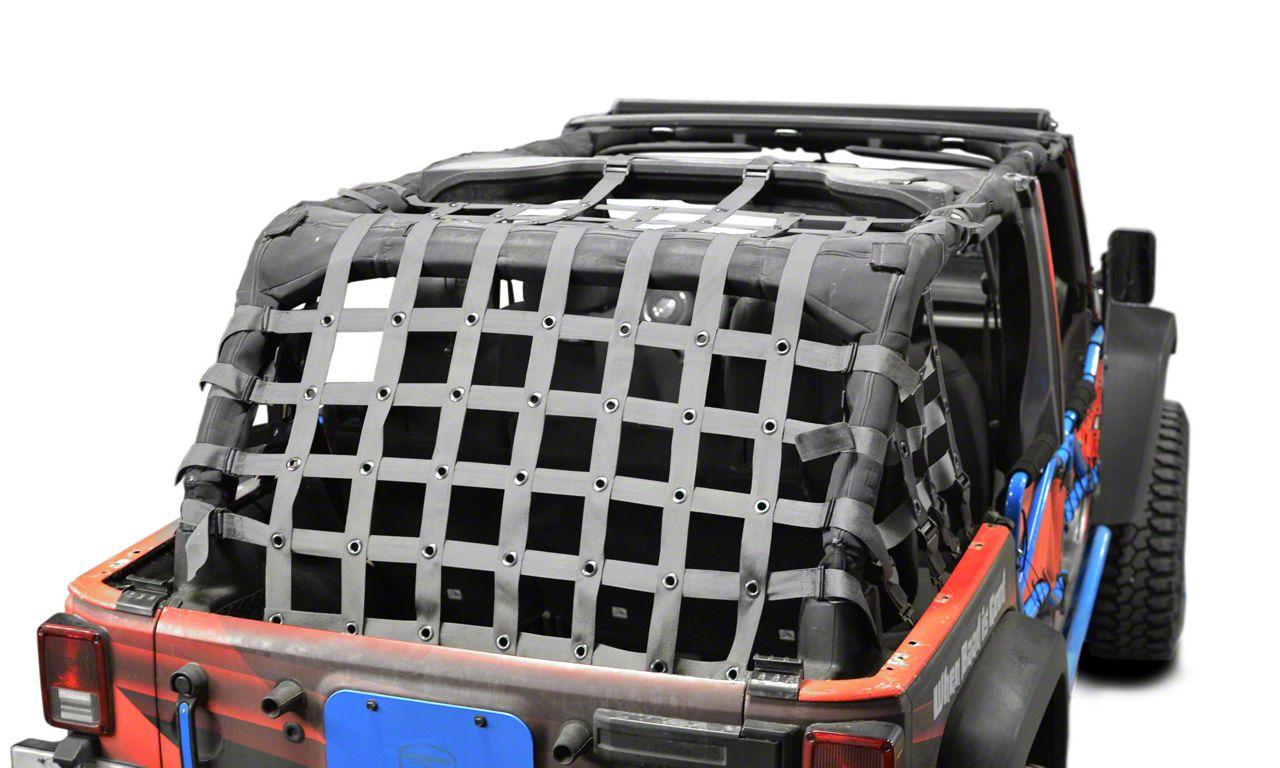 Steinjager Cargo Net - Gray (07-18 Jeep Wrangler JK 4 Door)