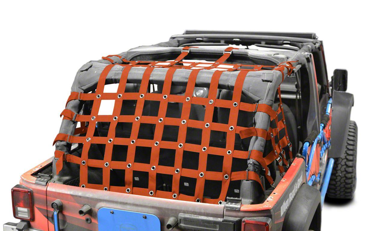 Steinjager Cargo Net - Orange (07-18 Jeep Wrangler JK 4 Door)