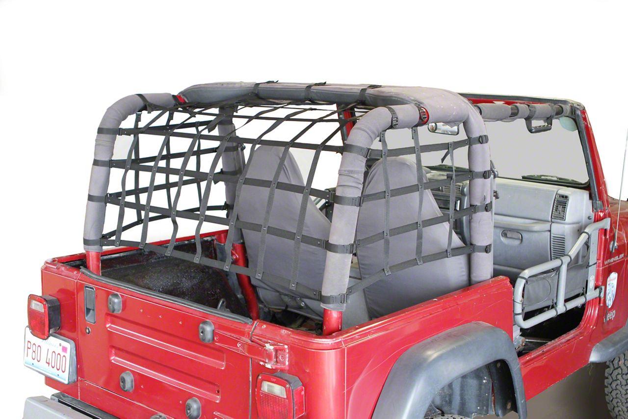 Steinjager Cargo Net Kit - Black (97-06 Jeep Wrangler TJ)
