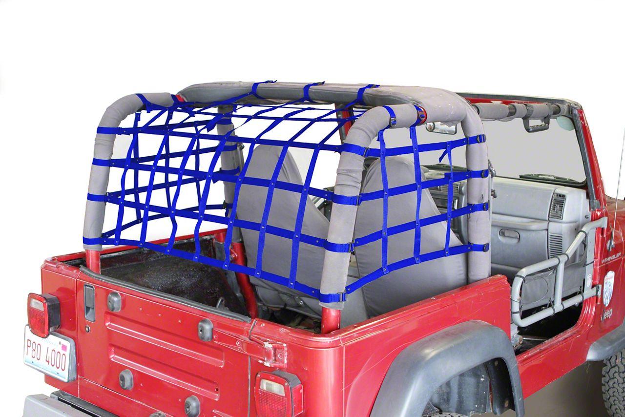 Steinjager Cargo Net Kit - Blue (97-06 Jeep Wrangler TJ)