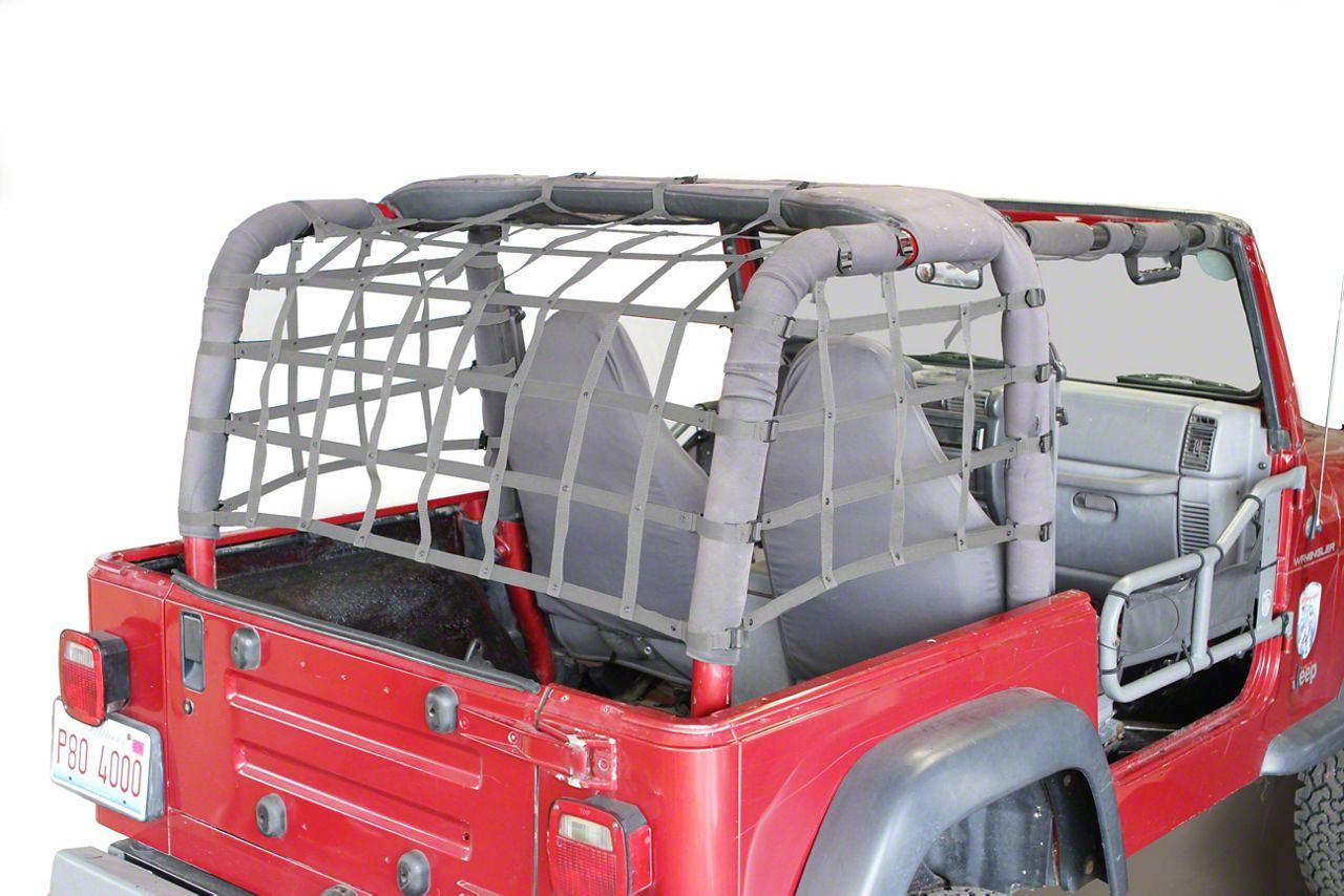 Steinjager Cargo Net Kit - Gray (97-06 Jeep Wrangler TJ)