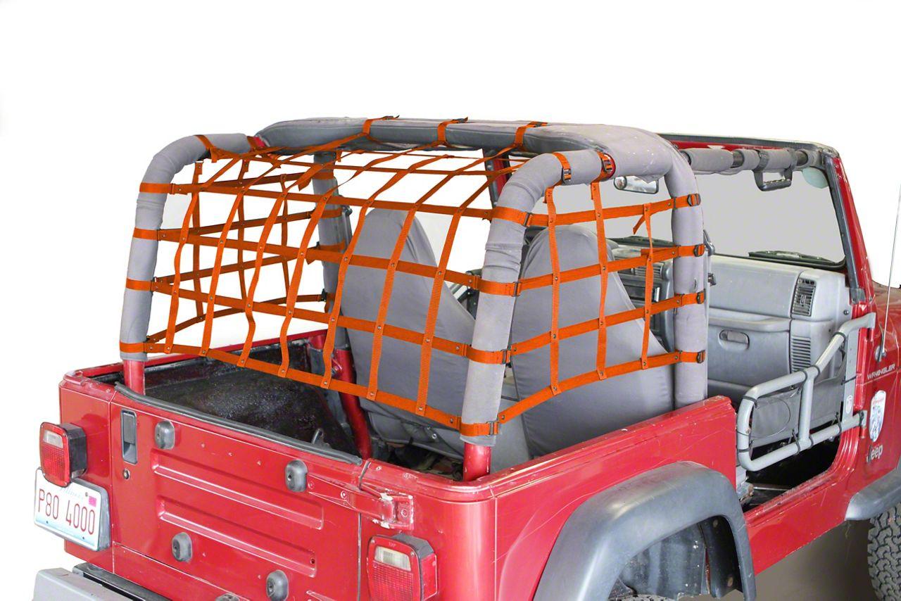 Steinjager Cargo Net Kit - Orange (97-06 Jeep Wrangler TJ)
