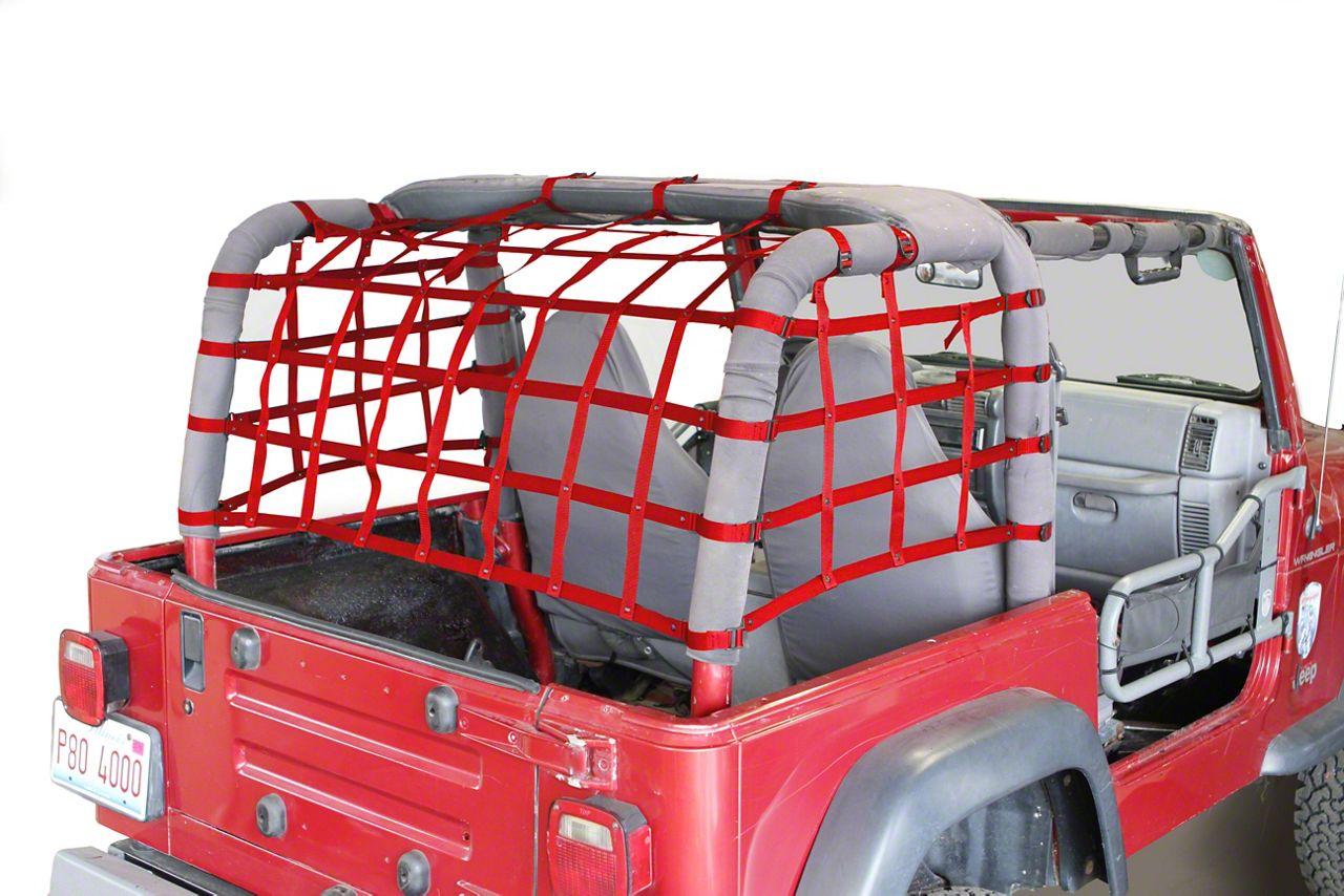 Steinjager Cargo Net Kit - Red (97-06 Jeep Wrangler TJ)
