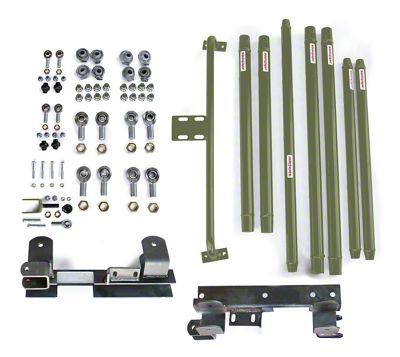 Steinjager Chrome Moly Tube Long Arm Tavel Kit for 2-6 in. Lift - Locas Green (97-06 Jeep Wrangler TJ)