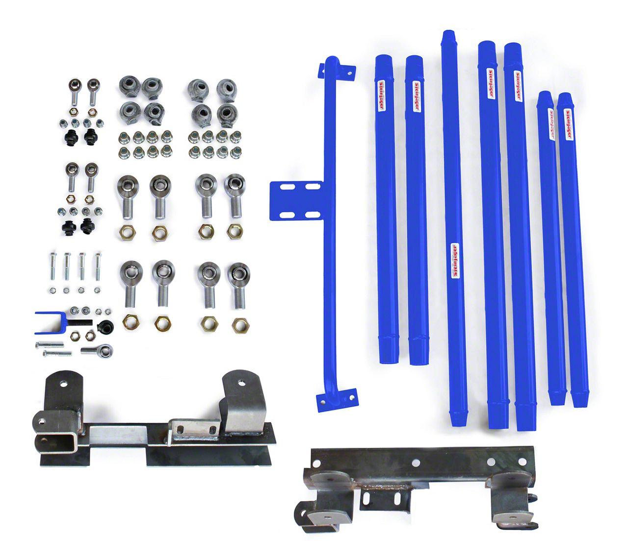 Steinjager Chrome Moly Tube Long Arm Tavel Kit for 2-6 in. Lift - Southwest Blue (97-06 Jeep Wrangler TJ)