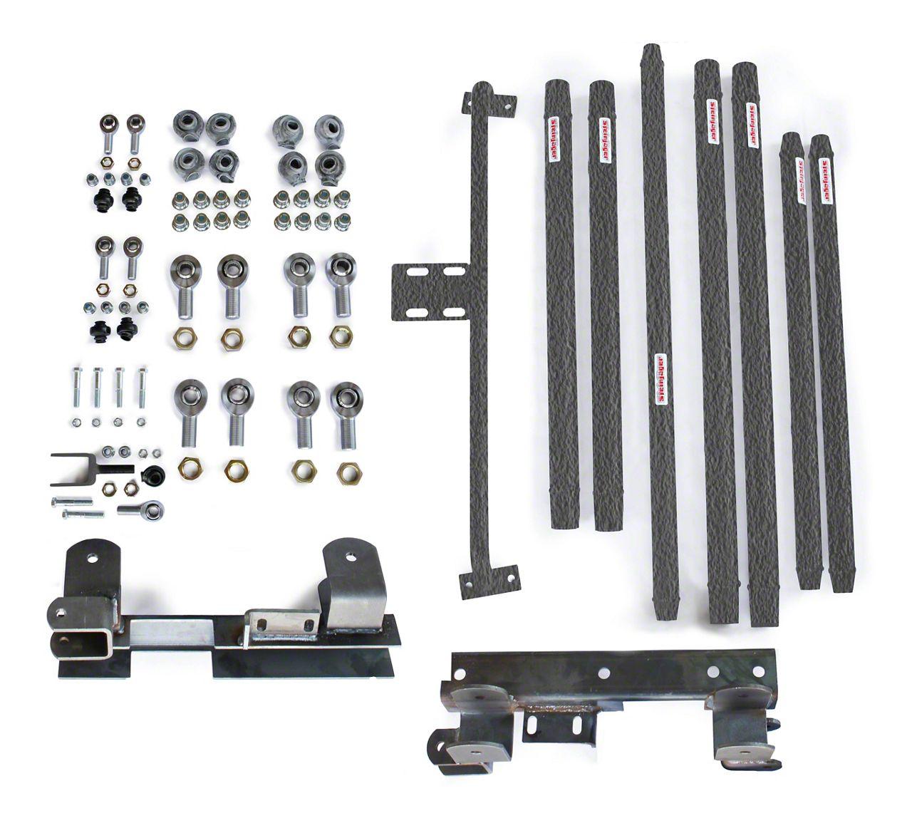 Steinjager Chrome Moly Tube Long Arm Tavel Kit for 2-6 in. Lift - Textured Black (97-06 Jeep Wrangler TJ)