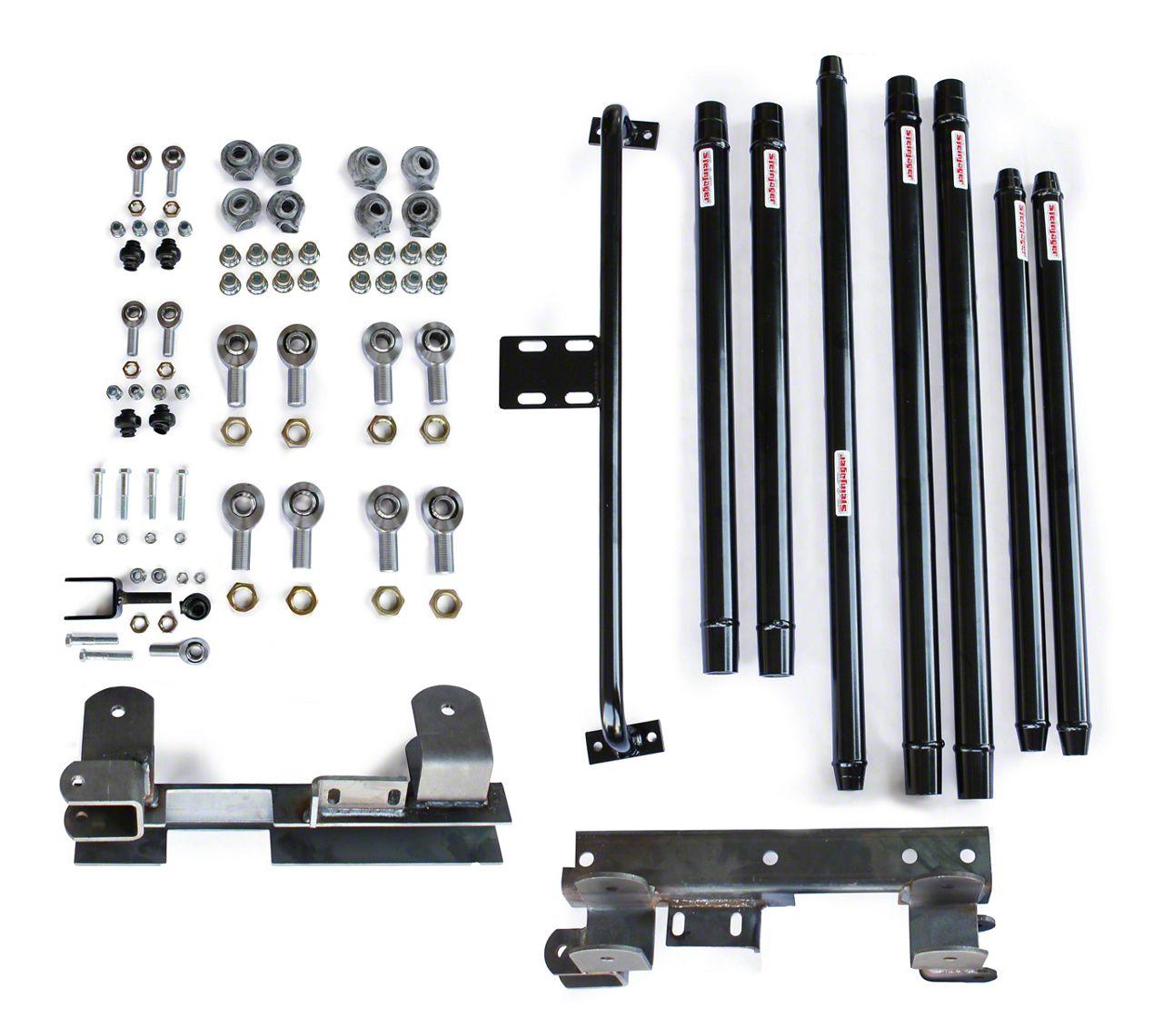 Steinjager DOM Tube Long Arm Travel kit for 2-6 in. Lift - Black (97-06 Jeep Wrangler TJ)