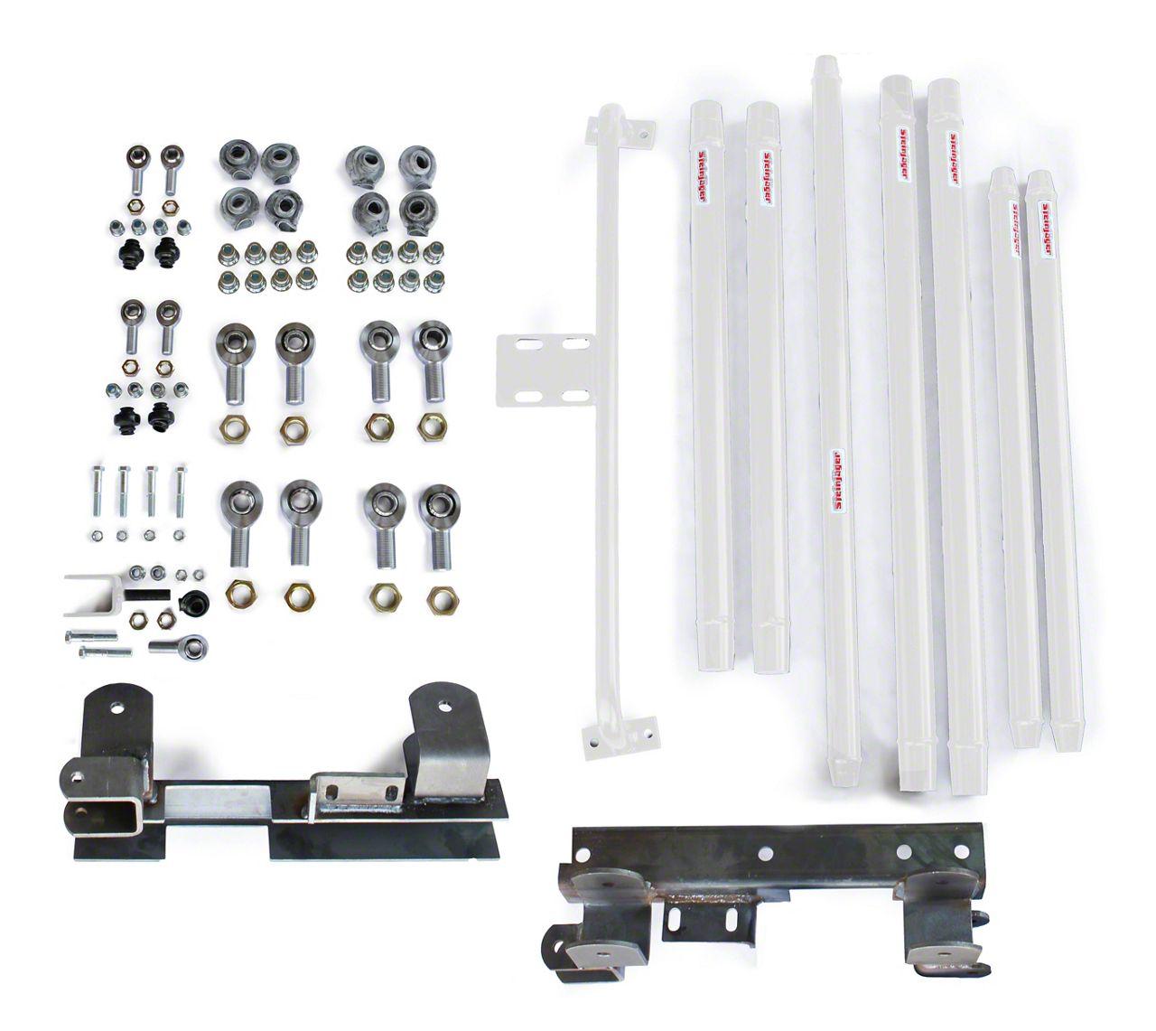 Steinjager DOM Tube Long Arm Travel kit for 2-6 in. Lift - Cloud White (97-06 Jeep Wrangler TJ)