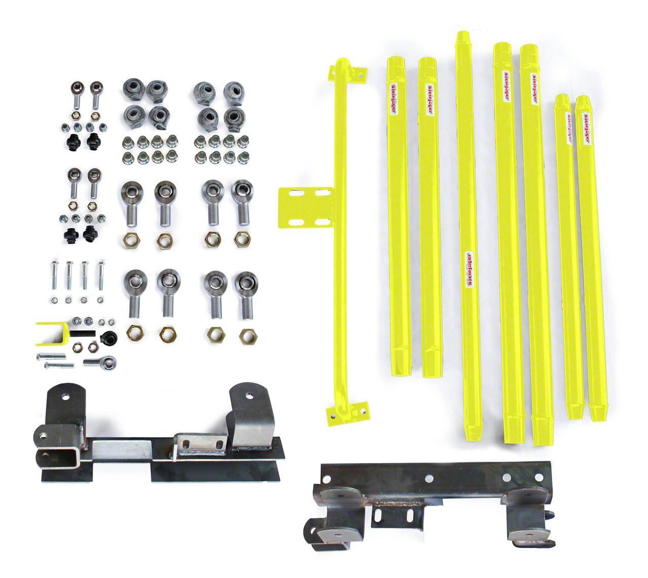 Steinjager DOM Tube Long Arm Travel kit for 2-6 in. Lift - Lemon Peel (97-06 Jeep Wrangler TJ)