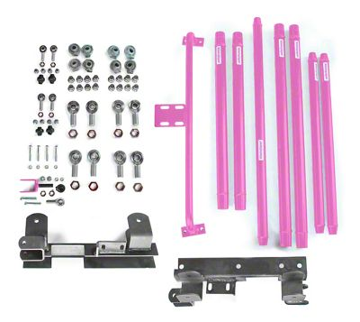 Steinjager DOM Tube Long Arm Travel Kit for 2-6 in. Lift - Pinky (97-06 Jeep Wrangler TJ)
