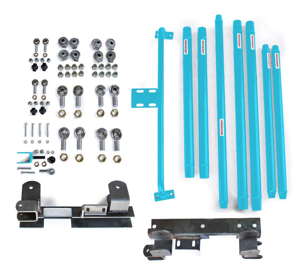 Steinjager DOM Tube Long Arm Travel kit for 2-6 in. Lift - Playboy Blue (97-06 Jeep Wrangler TJ)