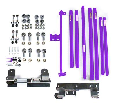 Steinjager DOM Tube Long Arm Travel Kit for 2-6 in. Lift - Sinbad Purple (97-06 Jeep Wrangler TJ)