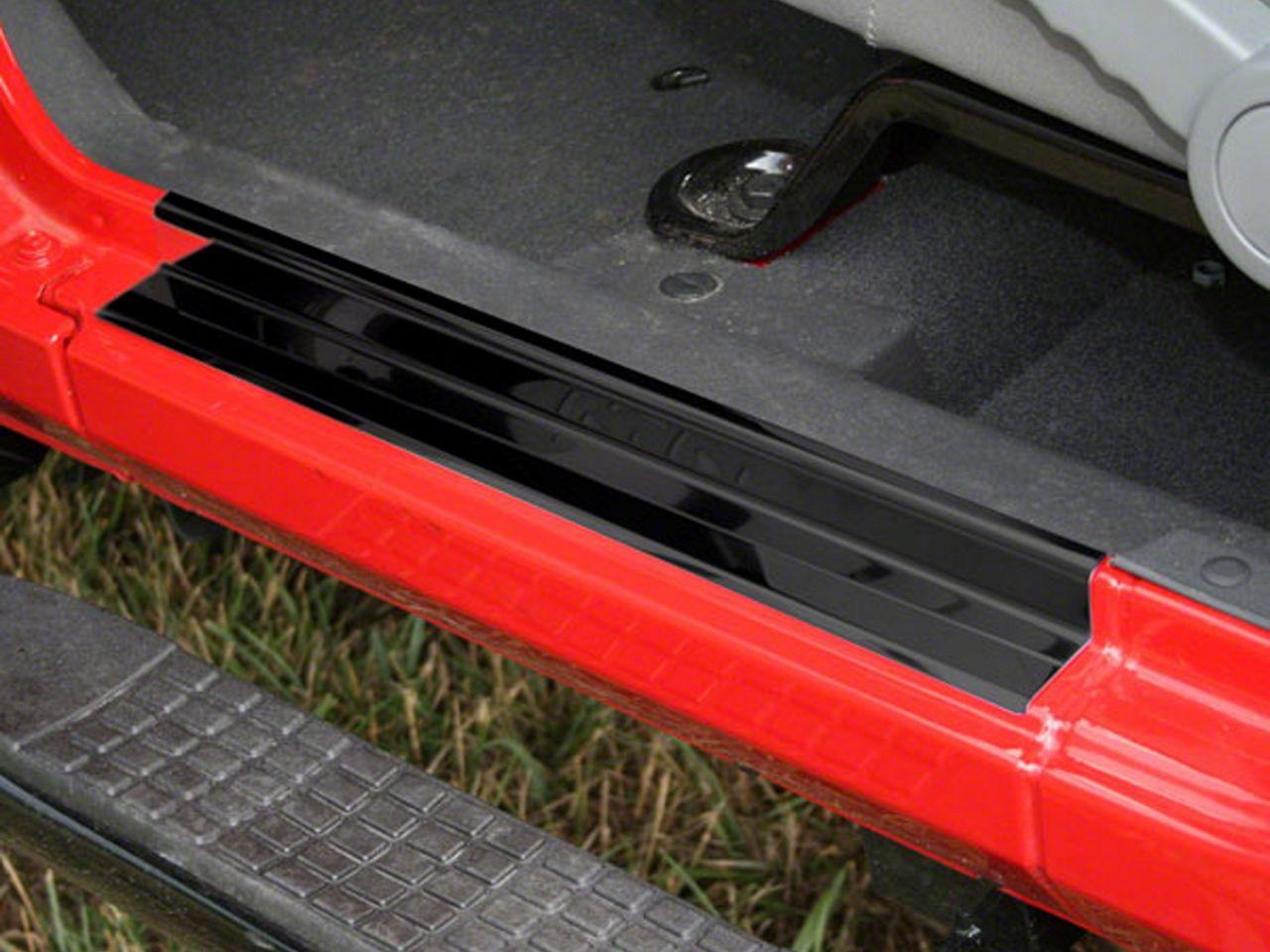 Rugged Ridge Door Entry Guards - Black (07-18 Jeep Wrangler JK 2 Door)