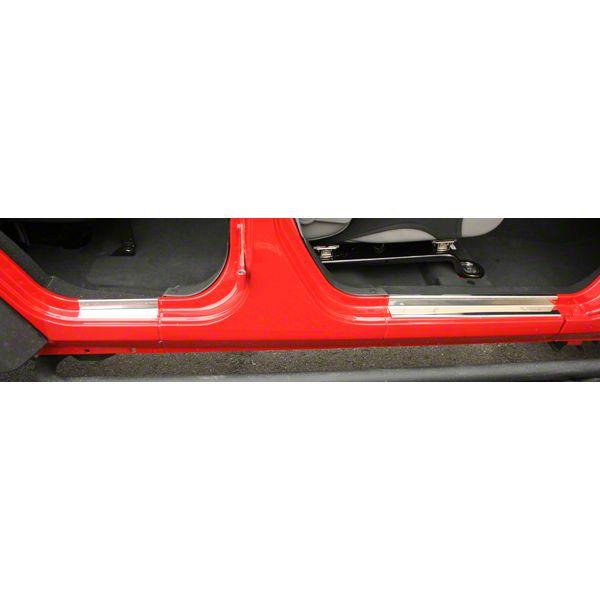 Omix-ADA Door Entry Guards - Stainless Steel (07-10 Jeep Wrangler JK 4 Door)