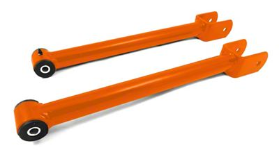 Steinjager Stainless Fixed Front Upper Control Arms for 0-2.5 in. Lift - Fluorescent Orange (07-18 Jeep Wrangler JK)