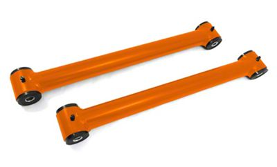 Steinjager Stainless Fixed Rear Lower Control Arms for 0-2.5 in. Lift - Fluorescent Orange (07-18 Jeep Wrangler JK)