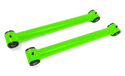 Steinjager Stainless Fixed Rear Lower Control Arms for 0-2.5 in. Lift - Neon Green (07-18 Jeep Wrangler JK)