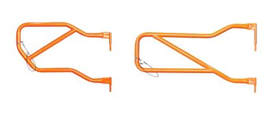 Steinjager Front & Rear Trail Tube Doors - Fluorescent Orange (07-18 Jeep Wrangler JK 4 Door)