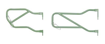 Steinjager Front & Rear Trail Tube Doors - Locas Green (07-18 Jeep Wrangler JK 4 Door)