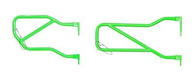 Steinjager Front & Rear Trail Tube Doors - Neon Green (07-18 Jeep Wrangler JK 4 Door)