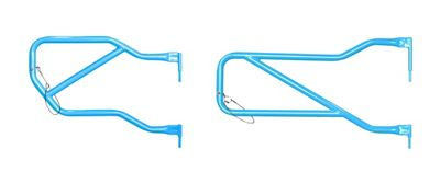 Steinjager Front & Rear Trail Tube Doors - Playboy Blue (07-18 Jeep Wrangler JK 4 Door)