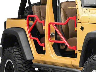 Steinjager Front & Rear Trail Tube Doors - Red Baron (07-18 Jeep Wrangler JK 4 Door)