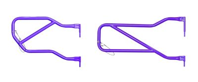 Steinjager Front & Rear Trail Tube Doors - Sinbad Purple (07-18 Jeep Wrangler JK 4 Door)